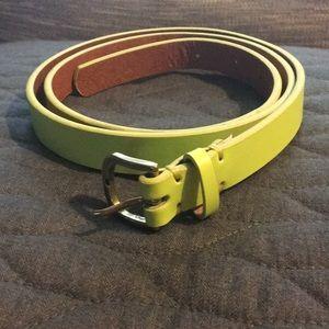 J. Crew neon belt, size M
